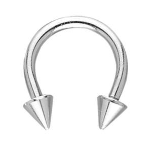 Hufeisen Piercing mit Aufschraubspitzen Spikes 1.0 bis 1.6mm Stärke