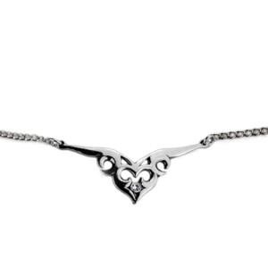 Back Belly Chain aus 925 Sterling Silber, keltisches Herz