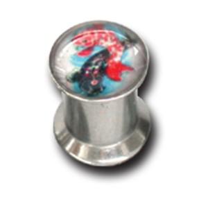 Ohrlochdehner 6mm Plug mit Motiv