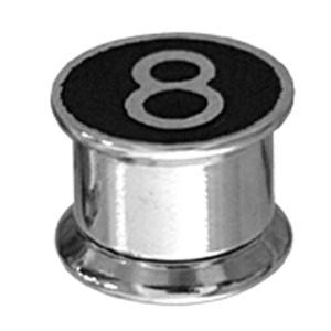 Ohrplug mit abschraubbaren Schwarze 8-Motiv