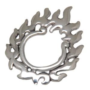 Brustclip aus 925 Sterling Silber - in Flammen