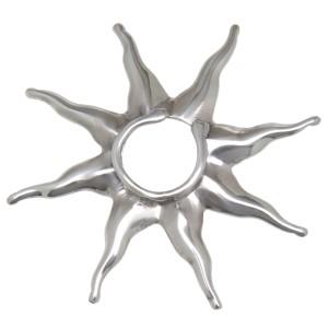 Brustclip aus 925 Sterling Silber mit einem Sonnen Design GROSS
