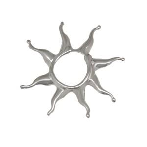 Brustclip aus 925 Sterling Silber mit einem Sonnen Design KLEIN