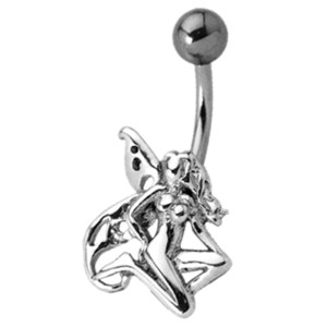 Bauchnabel Piercing mit Elfen Design