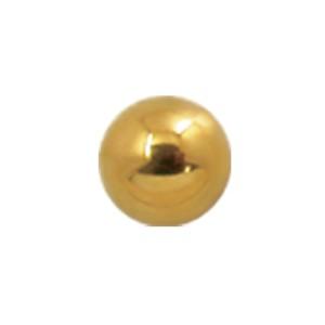 Vergoldete Schraubkugel in 2 Größen