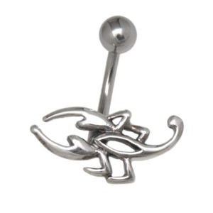 Bauchnabelpiercing mit Skorpion Design