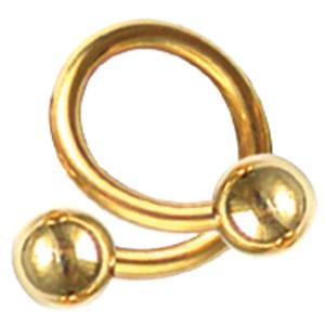 Vergoldeter Twister in 1,6mm Stärke