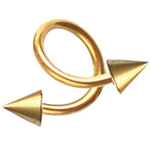 Vergoldeter Twister mit Aufschraubspitzen