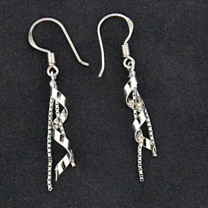 Ohrhänger aus 925 Sterling Silber mit Spiraldesign 04