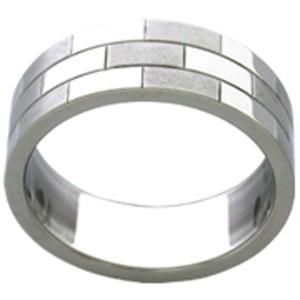 Ring aus Edelstahl - Rechtecke
