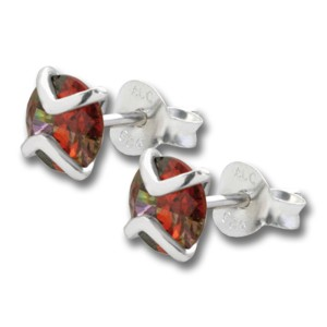 Ohrstecker aus 925 Sterling Silber mit Multicolor-Kristall