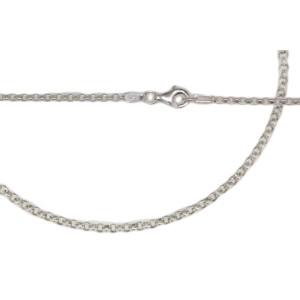 Erbskette aus 925 Silber in zwei Längen mit 2.2mm Kettenglieder und Karabinerverschluß