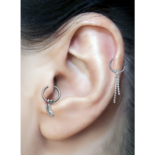 tragus oder helix piercing 925 st silber motiv mit 316l. Black Bedroom Furniture Sets. Home Design Ideas