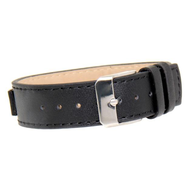 schmales leder armband gravurplatte aus edelstahl. Black Bedroom Furniture Sets. Home Design Ideas