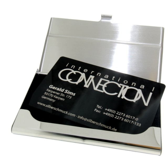 10 visitenkarten mit gravur alu schwarz vc alu bk - Metall visitenkarten ...