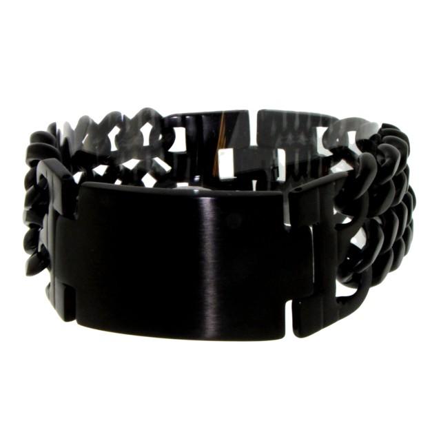 edelstahl armband schwarz gl nzend f r m nner und frauen. Black Bedroom Furniture Sets. Home Design Ideas