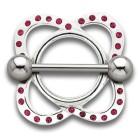 Brustwarzenschild Atom mit Swarovski Kristallen