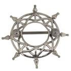 Brustwarzenpiercing mit Barbell und einem ausgefallenem Design aus 925 Silber