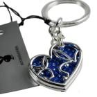 Schlüsselanhänger Playboy Duo Bunny blau - Swarovski Kristalle