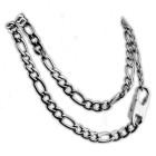 Figaro-Halskette aus Edelstahl in drei verschiedenen Längen