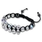 Armband im Shamballa-Stil mit mehrfarbigen Glasperlen