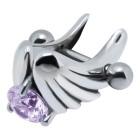 Helix-Piercing 1.2x6mm mit Flügel Design aus 925 Sterling Silber