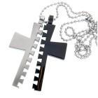 Anhänger aus Edelstahl, grosses Kreuz, teilbar
