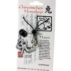 Chinesisches Horoskopzeichen  Hase , Zinn, Kordel&Karte