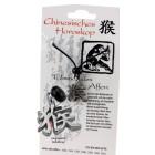 Chinesisches Horoskopzeichen  Affe , Zinn, Kordel&Karte