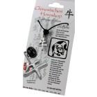 Chinesisches Horoskopzeichen  Büffel , Zinn, Kordel&Karte
