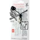 Chinesisches Horoskopzeichen  Ziege , Zinn, Kordel&Karte