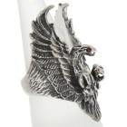 Schwerer Silberring Adler zeigt seine Krallen