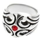 Schwerer Ring aus 925 Sterling Silber, keltisch  mit Kristall