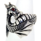 Schwerer Silberring Dragon