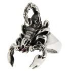 Schwerer Silberring Skorpion