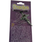 Kettenanhänger mit Drachen Design - mit Schwert und Swarovski