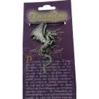 Kettenanhänger mit Drachen Design - springender Drache