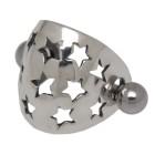 316L Barbell mit Silberdesign Stern