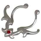 Brustclip aus 925 Sterling Silber mit Tribal Design und einem Kristallstein