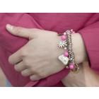 Bettelarmband French Kitty pink