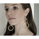 Ohrhänger aus Stahl im Mobile Design mit Ringen