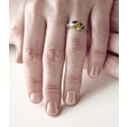 925 Sterling Silber Ring mit Navette