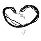 Halskette Playboy Bunny mit schwarzen Perlen