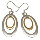 Ohrhänger oval, 925 Silber, innen mit edler vergoldeter Schicht
