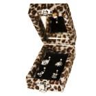 Schmuckbox für 4 Piercings im Leoparden Look