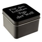 Schmuck-Box aus Metall schwarz mit individueller Gravur
