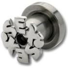 Ohrplug mit Schriftzug SEX 4-6mm