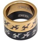 Ringe Set schwarz - gold mit Tribal-Motiv
