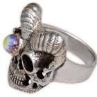 Schwerer Silberring Totenkopf