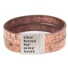 Echtlederarmband used Look braun mit individueller Gravur #size#